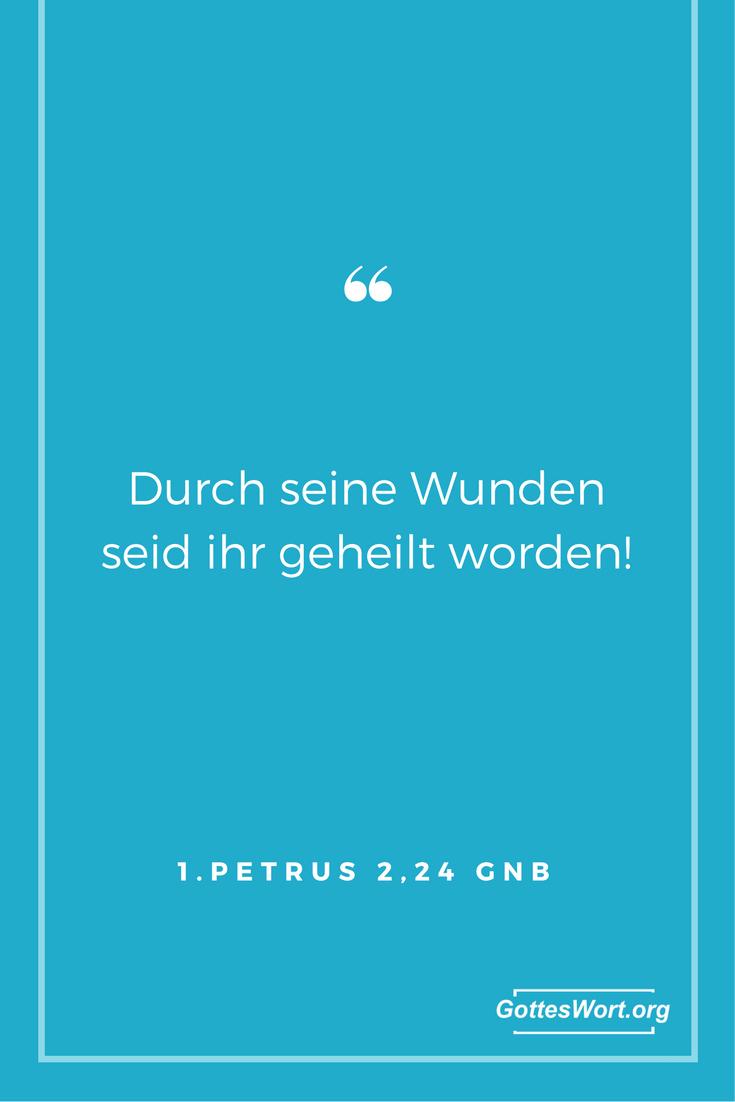 Durch seine Wunden seif ihr geheilt worden. Antwort: http://www.gottes-wort.com/haende-auflegen.html