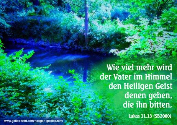 Empfang der Zusage des Heiligen Geistes
