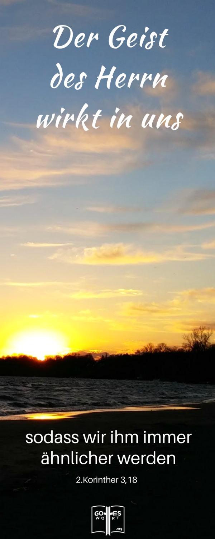 Lebenslauf: Und der Geist des Herrn wirkt in uns, sodass wir ihm immer ähnlicher werden und immer stärker seine Herrlichkeit widerspiegeln. 2.Korinther 3,18! https://www.gottes-wort.com/lebenslauf.html
