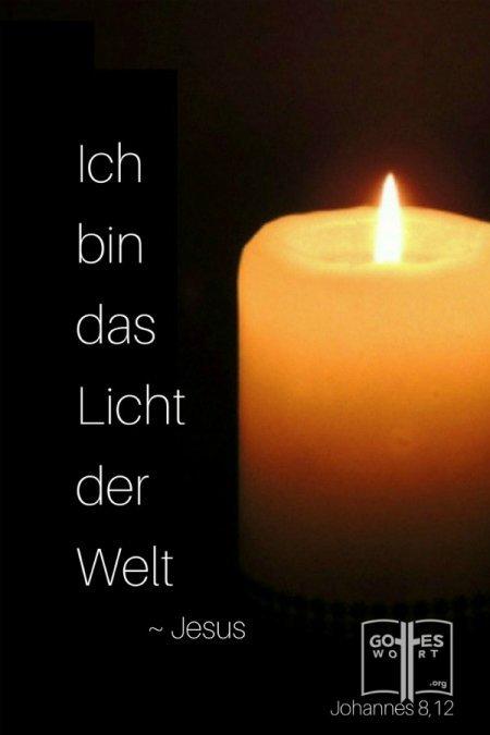 ✚ Ich bin das Licht der Welt ... Jesus Weiterlesen:  https://www.gottes-wort.com/das-licht.html #daslicht #jesuschristus #gotteswort #lichtderwelt