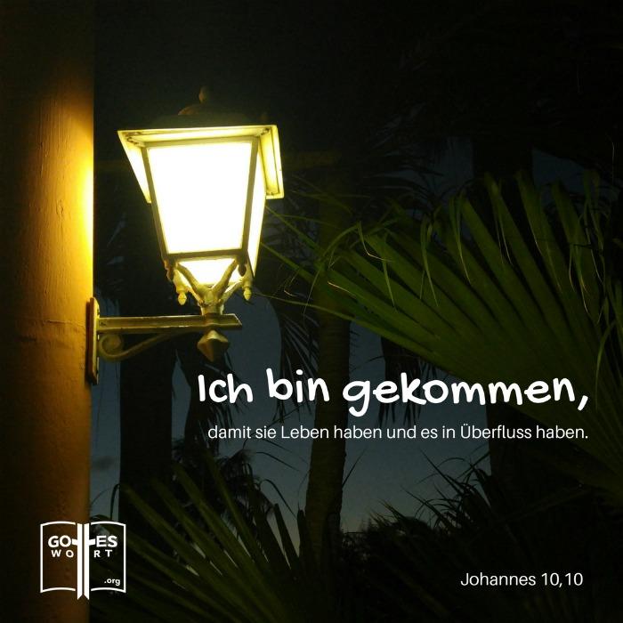 ✚ Johannes 10,10 HALLELUJA! Jesus! Er gibt uns LEBEN! https://www.gottes-wort.com/angst-vor-der-angst.html #gotteswort #jesuschristus #angst