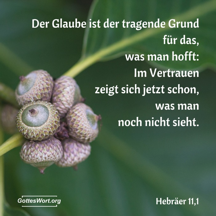 Der Glaube ... Hebräer 11.1