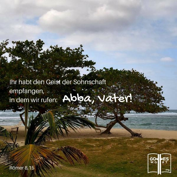 Denn ihr habt nicht einen Geist der Knechtschaft empfangen, sondern … Roemer 8,15 Kuba Strand