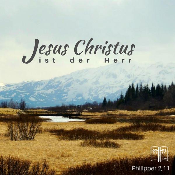 Und jeder ohne Ausnahme wird zur Ehre Gottes, des Vaters, bekennen: Jesus Christus ist der Herr! Phil 2,11 Lese: https://www.gottes-wort.com/namen.html