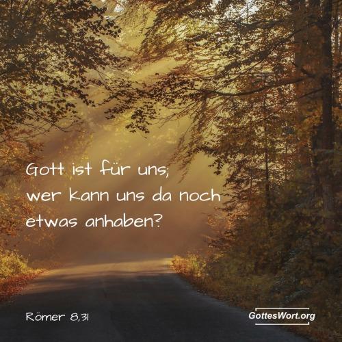 """Also, von Römer 8,31 """"Wenn Gott für uns ist, wer könnte dann gegen uns sein?"""" lässt nur eine Möglichkeit … den Teufel."""