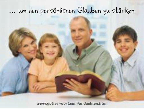 Wöchentliche Andachten aus dem Wort Gottes