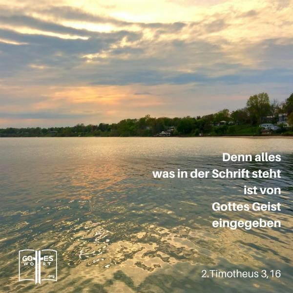 Denn alles, was in der Schrift steht, ist von Gottes Geist eingegeben, ... 2.Timotheus 3,16 Lese: http://www.gottes-wort.com/artikel-bibel.html