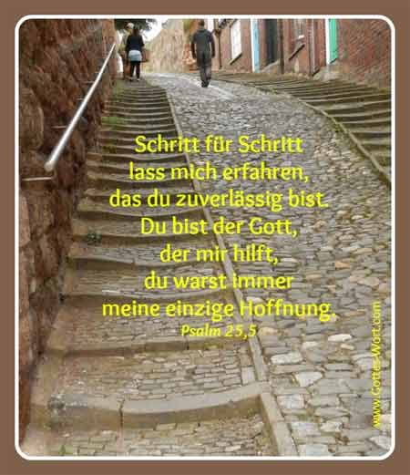 Exeter stairs Psalm 25,5