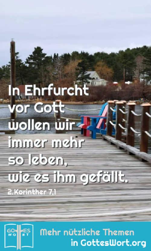 ✚ In Ehrfurcht vor Gott wollen wir immer mehr so leben, wie es ihm gefällt. 2.Kor 7,1 https://www.gottes-wort.com/gewohnheiten.html #gotteswort #gewhonheiten #bibel