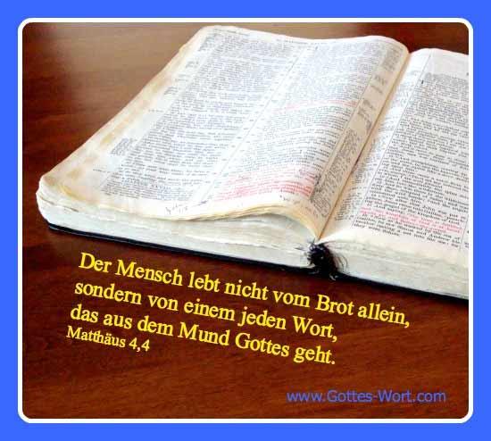 Bibel Mat. 4,4