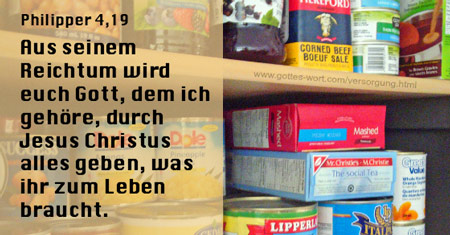 Versorgung ... Philipper 4,19