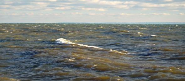 Wellengang, Erie See, Ontario, Kanada