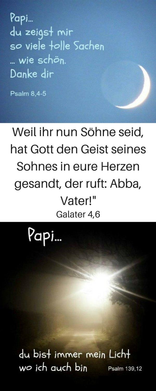 Unser himmlischer Vater ist unser Abba, unser Papi! Kennst du ihn so? Schau hier: https://www.gottes-wort.com/papi.html