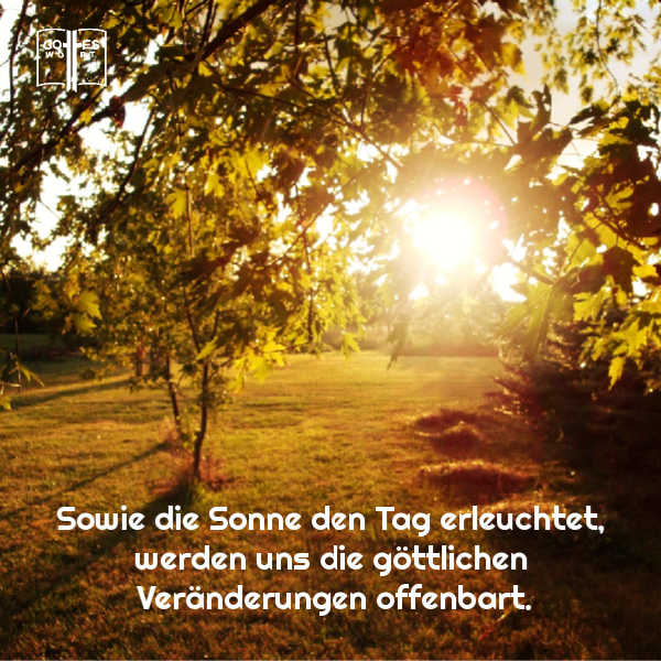 ✚ Sowie die Sonne den Tag erleuchtet, werden uns die göttlichen Veränderungen offenbart. https://www.gottes-wort.com/gewohnheiten.html #gotteswort #gewhonheiten #pastorwolle