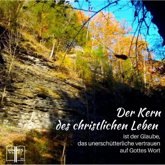 Der Kern des christlichen Leben ist der Glaube, das unerschütterliche vertrauen auf Gottes Wort. Weiter lesen: https://www.gottes-wort.com/kern-des-glaubens.html