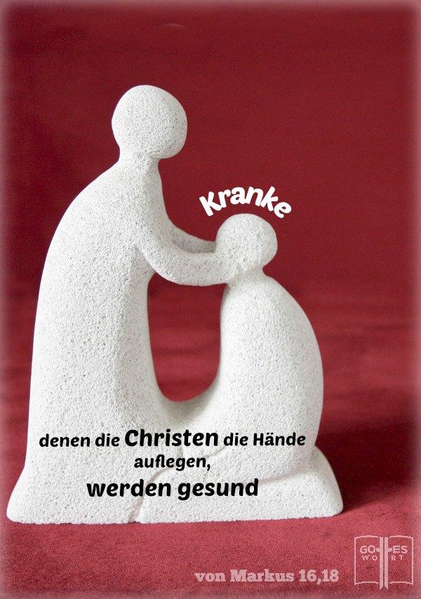 Jesus weissagte dass Er die Glaubenden durch Wunder bestätigen wird. Kranke, denen sie die Hände auflegen, werden gesund. Markus 16,18 #haendeauflegen lese: www.gottes-wort.com/haende-auflegen.html