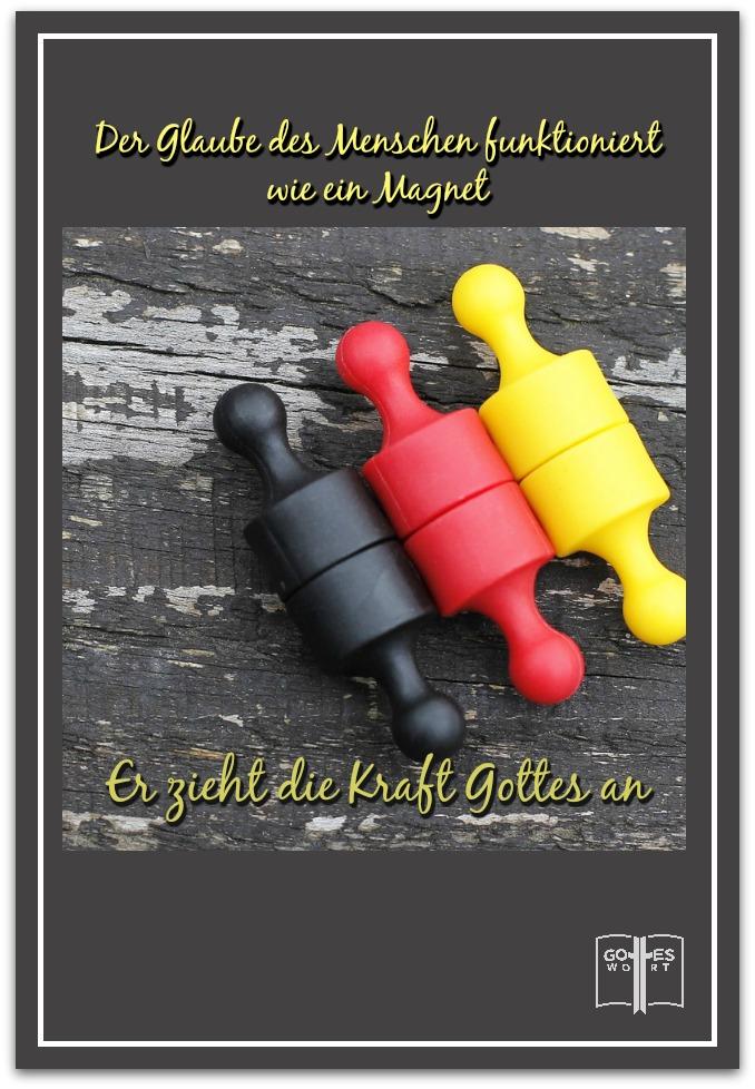 Der Glaube des inneren Menschen funktioniert wie ein Magnet und zieht die Kraft Gottes an. Hebräer 11,1 #hoffnung #gottvertrauen #kraftgottes  lese: www.gottes-wort.com/was-ist-hoffnung.html