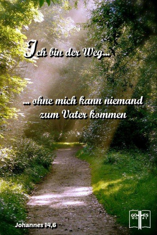 Ich bin der Weg, ich bin die Wahrheit, und ich bin das Leben! Ohne mich kann niemand zum Vater kommen. Joh 14,6  #wiedergeburt #leben Lese: https://www.gottes-wort.com/wiedergeburt.html